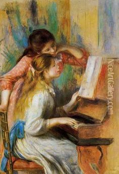 Girls at the Piano I  By: Pierre Auguste Renoir
