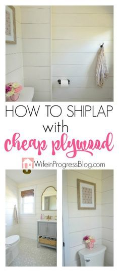 It's easy and cheap to get the shiplap look on any wall using cheap plywood. It's affordable and super easy to work with! You're going to love how it will transform your home to give you that coveted Fixer Upper style!