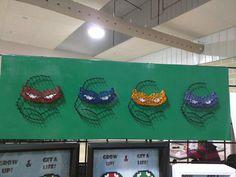 Teenage Mutant Ninja Turtles Minimalist String Art