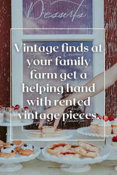 Uncle Bob's family farm is a great place for your rural wedding, but is it wedding friendly? Heres a few ways to add vintage rentals to your family farm wedding. Read the blog today! Wedding Themes, Wedding Vendors, Wedding Designs, Wedding Events, Wedding Decorations, Weddings, Vintage Furniture, Furniture Decor, Vintage Theme