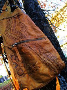 RESERVED LISTING for TBrock : Custom henna mehndi by Behennaed  #henna #mehndi #leather #boho #crossbody #messenger #backpack #behennaed