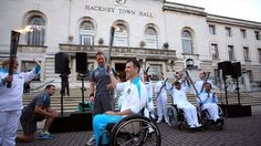 East London welcomes the Paralympic Flame