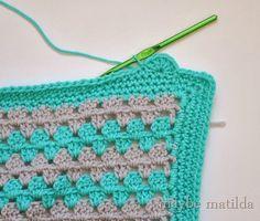 Granny Stripe Blanket Tutorial Part 3: Scalloped Border