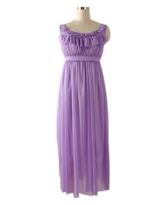 Bohemia Purple Chiffon Maxi Dress