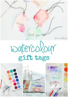 Handmade tags are a simple and fun way to personalize a gift. These are pretty for any of your spring and summer occasions.