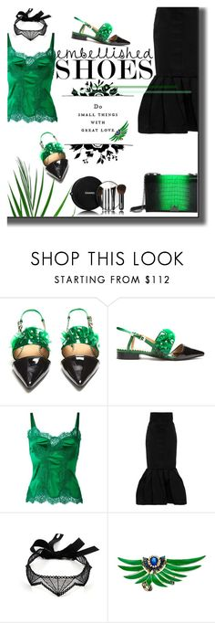 """""""Magic Slippers in green"""" by iraavalon ❤ liked on Polyvore featuring Chanel, Prada, Toga, Dolce&Gabbana and Sabine Getty"""