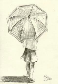 Drawing Pencil Portraits - umbrella art 26 More Discover The Secrets Of Drawing Realistic Pencil Portraits Easy People Drawings, Drawing People, Cool Drawings, Simple Pencil Drawings, Simple Sketches, Drawings Of People Easy, Drawing With Pencil, Charcoal Drawing, Pencil Sketching