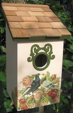 Bird House. Pretty with dollhouse shingles including the art painting. :)