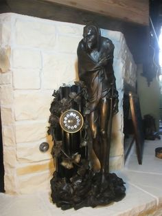 Antique Unusual Mantle Clock W/ French Movement