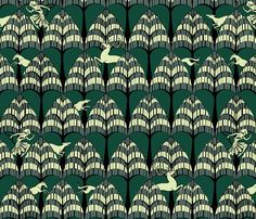 The Hunt fabric by ceanirminger for sale on Spoonflower - custom fabric, wallpaper and wall decals
