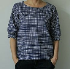 Sophie Shirt in Lotta Jansdotter fabric, by Jaqueline Rapedius (Pattern from Etsy ($5): https://www.etsy.com/listing/155533555/sewing-pattern-shirt-sophie-downloadable?ref=shop_home_active_6)