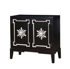 Furniture of America Aya Double Door Accent Chest in Black Space Furniture, Fine Furniture, Living Room Furniture, Painted Furniture, Accent Chest, Vintage Sideboard, Wooden Chest, Cabinet Handles, Adjustable Shelving