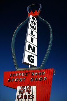 Salt Lake City Revolving Bowling Alley Sign