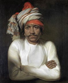 British School, Portrait of a Mahratta, 18th Century