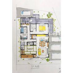 暮らしの設計士 あず(🌻ひまわり工房)はInstagramを利用しています:「【ほぼ平屋的ぐらしの傾向は、#令和 も流行予想。】  『平屋に住みたいんです…!』という羨ましス!なお悩みは俄然多いですねぇ(*´`*) 『引渡し…」 Floor Plans, How To Plan, Instagram, Floor Plan Drawing, House Floor Plans