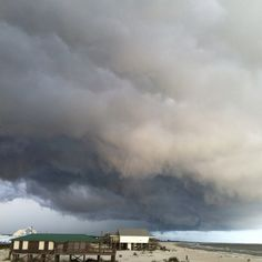 Dauphin Island - Lordy, I was out there on the west end as a kid when a storm like that blew up, and a funnel cloud was coming out of it. Momma was like, Oh, look! A funnel cloud. Like it was a cute baby ducky or something. I wasn't so calm. Haha!