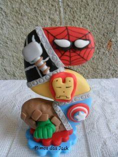 Vela de biscuit Os Vingadores