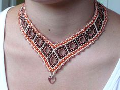 Pattern  for necklace Beaded Squares
