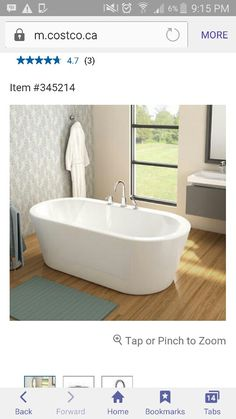 Freestanding Tub With Deck Mounted Faucet From Costco.ca