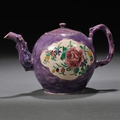 Staffordshire Salt-glazed Stoneware Teapot and Cover, England, c. 1760,