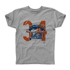 Walter Payton Number OB Chicago Officially Licensed Toddler and Youth T-Shirts 2-12 Years