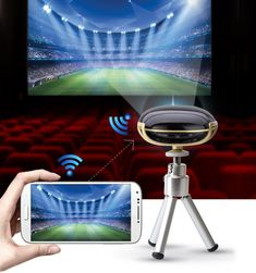 Super Cool Full HD Mini Pocket DLP WIFI LCD Portable Built-in Media Player Home Theater for Phone-Loluxe