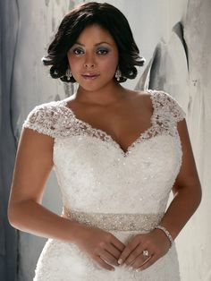 Cap Sleeve Flowing A-line Julietta Bridal Gown 3144|DimitraDesigns.com