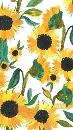 Sunflower OurLivingHome Wallpaper