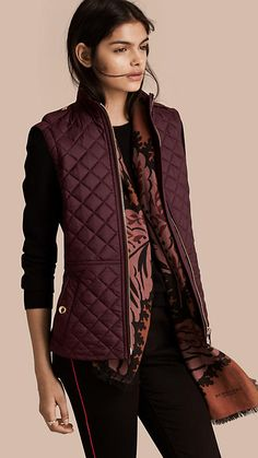 Cinched Waist Quilted Jacket | Burberry | Covet | Pinterest ... : burberry purple quilted jacket - Adamdwight.com