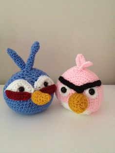 Angry Birds Red Cardinal and Green Pig Amigrumi Pattern ...