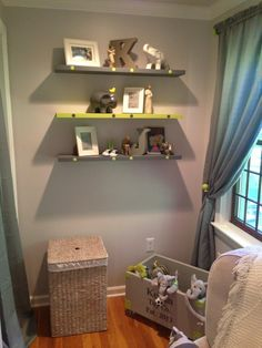 Lime Green and Gray Decor | Project For: Our first baby due in October Age: 10/6 Description: