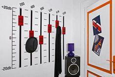Haus Design Ideen Kleiderhacken Musikliebhaber