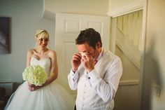 Pete from Lawson Photography in the UK captured this beautiful moment of the father of the bride seeing her for the first time in her dress.
