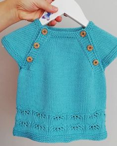 Love Knitting, Baby Knitting Patterns, Baby Cardigan, Pullover, Montage, Baby Dress, Doll Clothes, Free Pattern, Knit Crochet