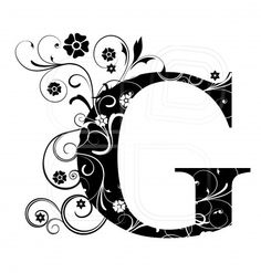 Letter Capital G, alphabet, arabic, art
