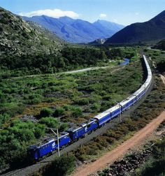 10 best train journeys: Blue Train Pretoria to Cape Town South Africa South African Railways, Blue Train, Out Of Africa, Train Journey, Parc National, Train Rides, Train Trip, Africa Travel, Train Travel