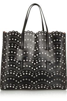 Alaïa Laser-cut leather tote | NET-A-PORTER
