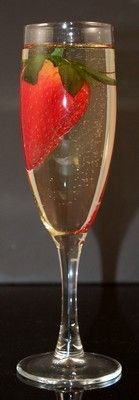 Fake Food Champagne Glass with Strawberry