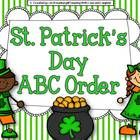 I hope you enjoy this St. Patrick's Day ABC Order activity! It includes a recording sheet for 6 or 12 words.    If you like it, please check out my o...
