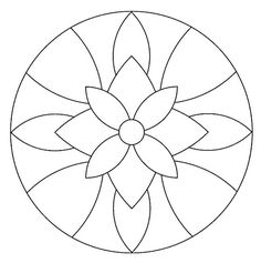 Instead of a mandala this would be a great stained glass pattern. Mandala Art, Mandala Drawing, Mandala Pattern, Mandala Towel, Easy Mandala, Mandala Coloring Pages, Colouring Pages, Adult Coloring Pages, Stained Glass Patterns
