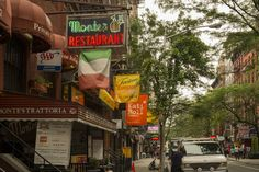 Greenwich Village abounds in eating options. Image by Steve Lewis Stock / The Image Bank / Getty