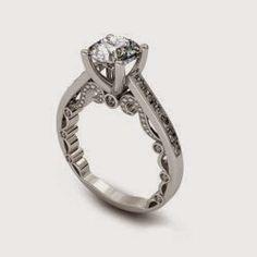 2.66 ct Round Cut Diamond Engagement Ring VVS1 / D 14k White Gold