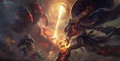 Pantheon smites Red Sentinel-League Of Legends, Suke ∷ on ArtStation at https://www.artstation.com/artwork/YG1BV