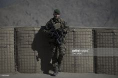 An Irish national from the 1st section 'Les Aigles ' (the eagles) of the 2nd REG (Régiment étranger du génie), serving as a soldier with the French Foreign Legion, at Forward Operating Base Tagab-Kutschbach near Tagab in Kapisa Province on January 24, 2011. The French Foreign Legion, a military unit established in 1831, was created for foreign nationals of any nationlity wishing to serve in the French armed forces. AFP PHOTO/Joel SAGET