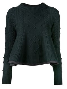 Love hape and edging Sacai Luck Peplum Knit Sweater - Kirna Zabête - Farfetch.com