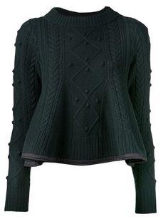 Love hape and edging Sacai Luck Peplum Knit Sweater - Kirna Zabête - Farfetch.com