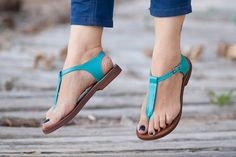 Hey, I found this really awesome Etsy listing at https://www.etsy.com/listing/266501701/turquoise-leather-sandals-turquoise