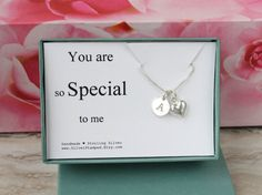 You are so special to me sterling silver initial by SilverStamped
