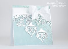 Natalja Li: Memory Box Snowflake Ornament and Frostyville Border craft dies Christmas Card Crafts, Christmas Scrapbook, Christmas Cards To Make, Noel Christmas, Xmas Cards, Handmade Christmas, Holiday Cards, Memory Box Cards, Memory Box Dies