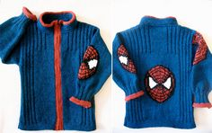 superhero knits - spiderman and hats